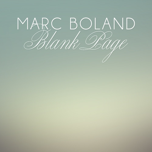 Marc Boland - Blank Page - Single