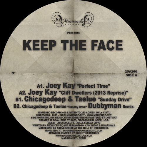 """OUT NOW***Minuendo Vinyl #25 (Limited #260) - Joey Kay """"Perfect Time"""" FIND @ DISCOGS (Link Below)"""