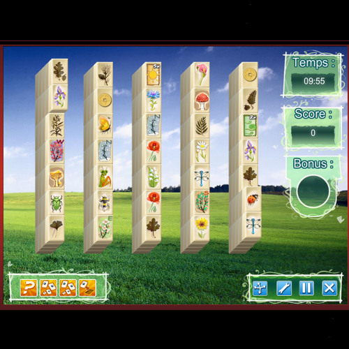 Temple Of Majong - Puzzle Game - iSCool Entertainment - Theme Nature