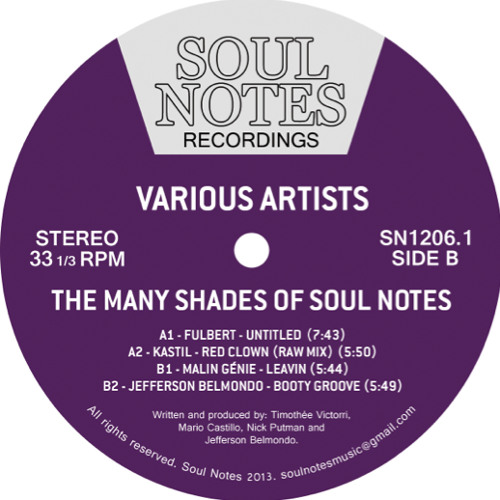 SN1206.1 - Various Artists - The Many Shades Of Soul Notes, Vol.1