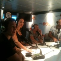 Renee Gartner and Garth Wood visit Triple M