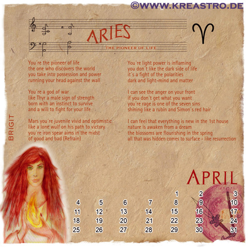 ARIES - The Pioneer of Life – by Narina