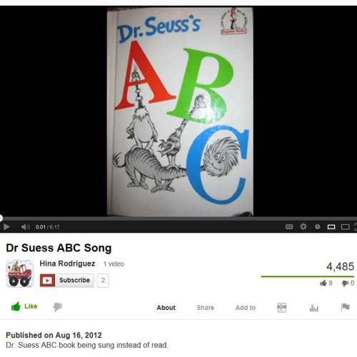 Dr Suess ABC Song - YouTube