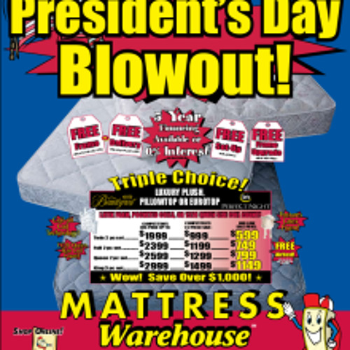 President's Day Mattress Sale (commercial parody)
