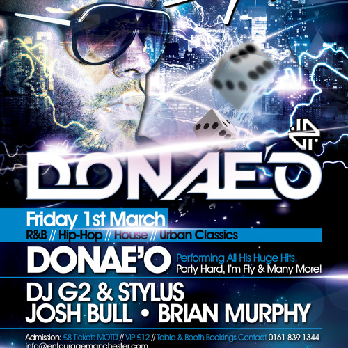 Signature Presents: DONAE'O LIVE || Entourage MCR || Friday 1st March