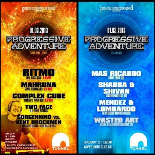 """Progressive Adventure 1 März@Tunnel"" Offical Promomix by Wasted Art"