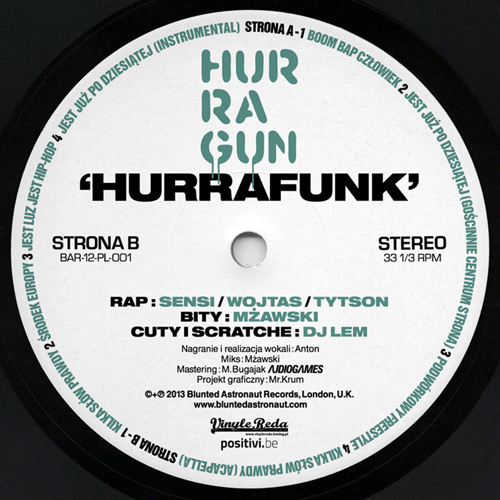 "Hurragun - Hurrafunk // BAR-12-PL-001 // 12"" EP"