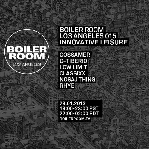 Classixx Boiler Room Los Angeles LIVE Show