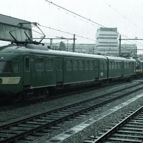 Rit in een elektrisch treinstel type Mat '40 rond 1961.