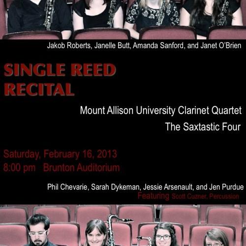 Mount Allison University Single Reed Recital 2013