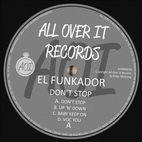 El Funkador - Don't Stop EP OUT 3/29/2013