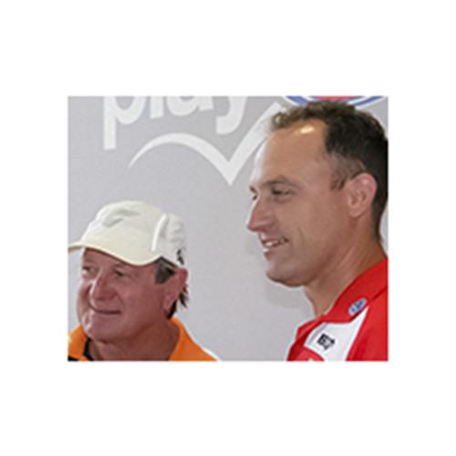 GWS coach Kevin Sheedy & Sydney Swans coach John Longmire NAB Cup