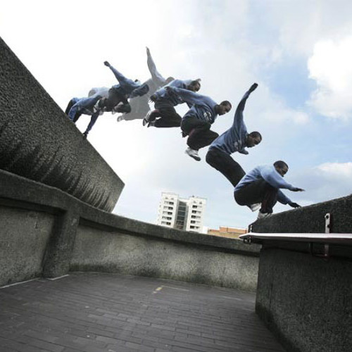 Trio parkour (2006) for two guitars and harp