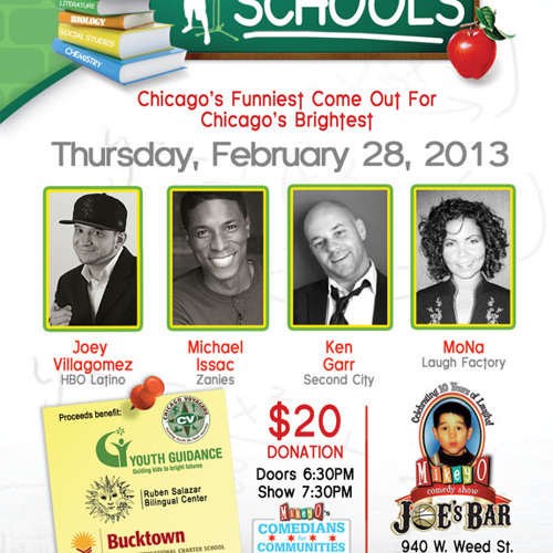 Mikey O Comedians Stand Up! for Schools by Fundraising Performances
