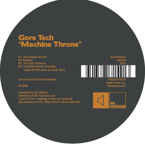 Gore Tech - Machine Throne EP - (Ad Noiseam ADN166)
