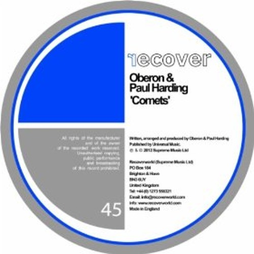 Oberon and Paul Harding-Comets-Ben Fraser and Greg Zogg Remix