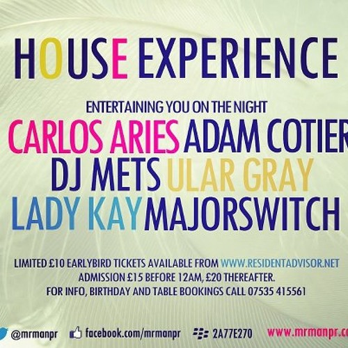 HOUSE EXPERIENCE @ DOLLS HOUSE-APRIL 1ST 2013 MIX BY CARLOS ARIES