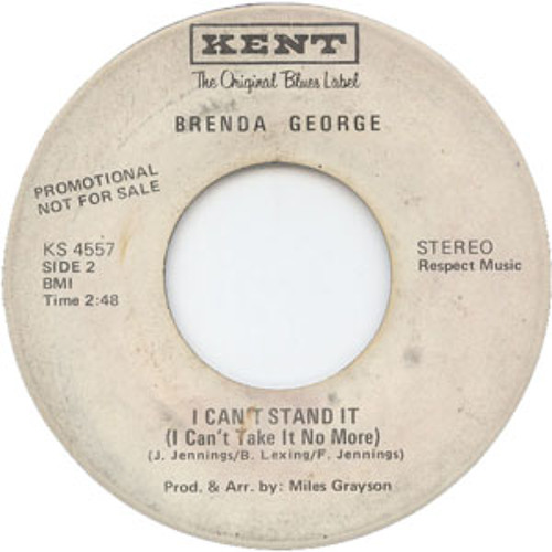 Brenda George -  I Can't Stand It (1971) SOUNDSOFTHE70S.BLOGSPOT