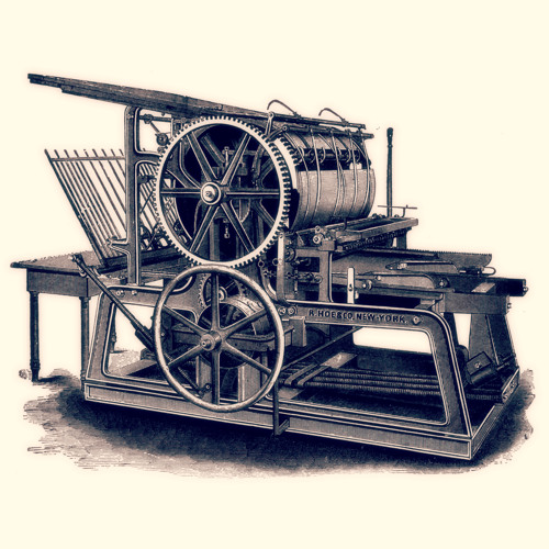 Printing Press - Roller, Side