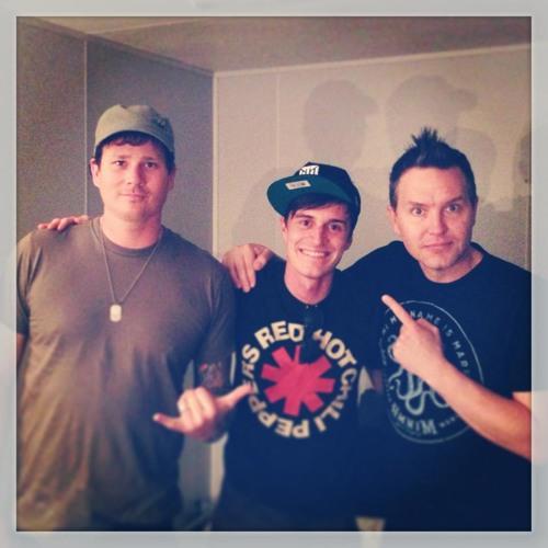 Backstage at Soundwave with Blink 182