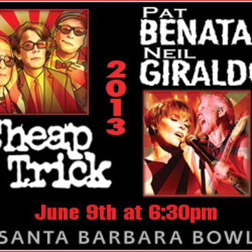 Cheap Trick/Pat Benatar & Neil Giraldo 6/9/13 SB Bowl