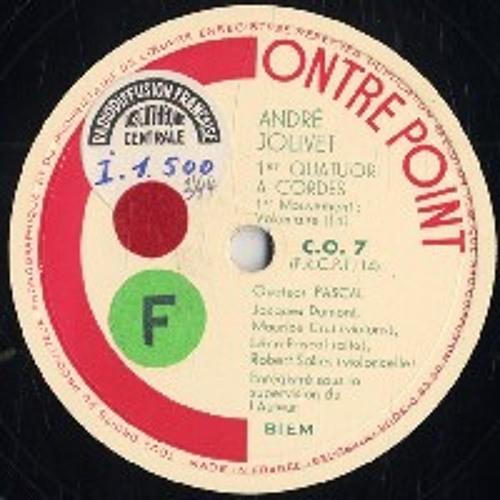 La minute de Madame Disco # 25 : André Jolivet : Quatuor à cordes : III Vif