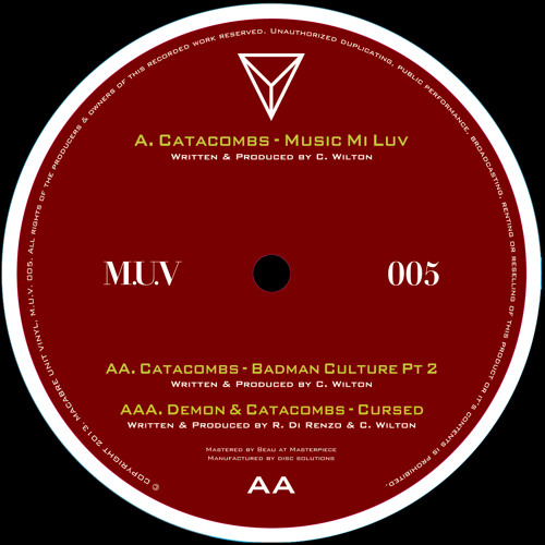 MUV005 - Catacombs & Demon - Music Mi Luv ep - 27.05.13