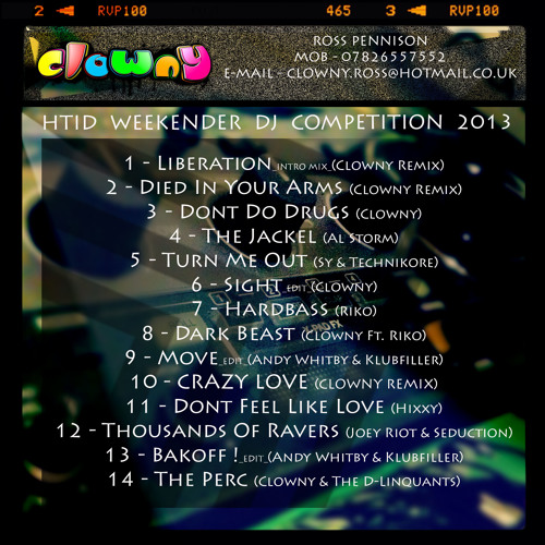 Dj Clowny HTID Weekender DJ Comp Entry_FREE DOWNLOAD