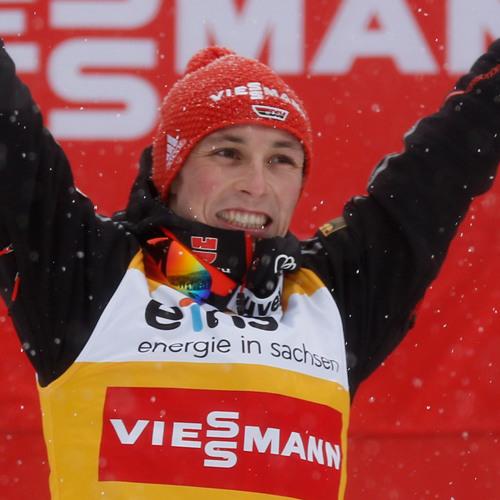 WM in Val di Fiemme: Eric Frenzel nach dem Springen im Team-Sprint (02.03.2013)