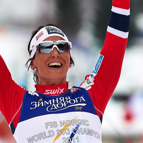 WM in Val die Fiemme: Marit Björgen nach dem 30 km-Massenstart (02.03.2013)