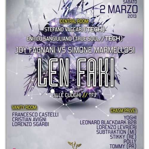 Enrico Sangiuliano @ Exodus w/ Len Faki - Reggio Emilia, 02/03/2013
