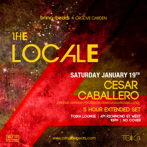 Cesar Caballero - The LocALe @ Toika Lounge - January 19, 2013 - Part 1