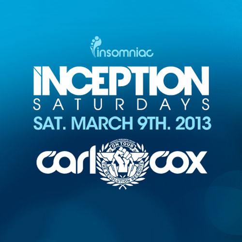 Nativity - Insomniac presents: Inception with Carl Cox [LIVE Promo Mix] 3|5|13