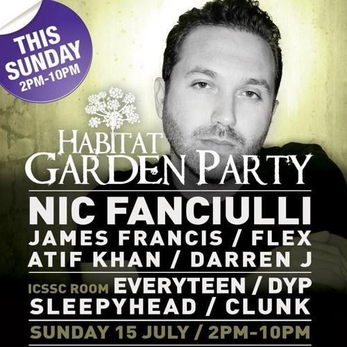 Atif @ Habitat Garden Party ft Nic Fanciulli