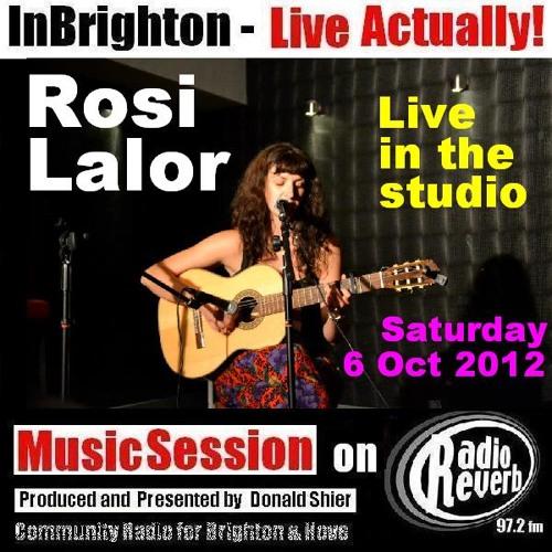 Rosi Lalor music session on InBrighton Live on 6-10-2012