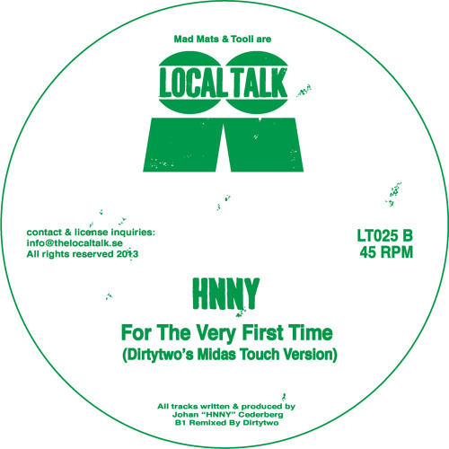 HNNY - For The Very First Time (Dirtytwo's Midas Touch) (LT025, Side B)