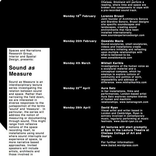 Sound as Measure Lecture – Mikhail Karikis
