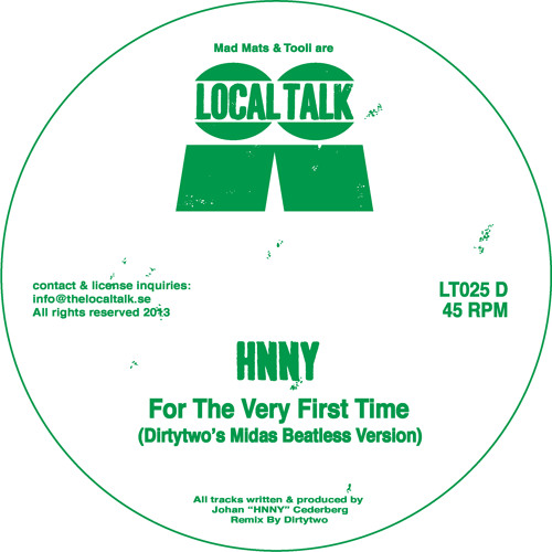 HNNY - For The Very First Time (Dirtytwo's Midas Beatless Version) (LT025, Digital Bonus)