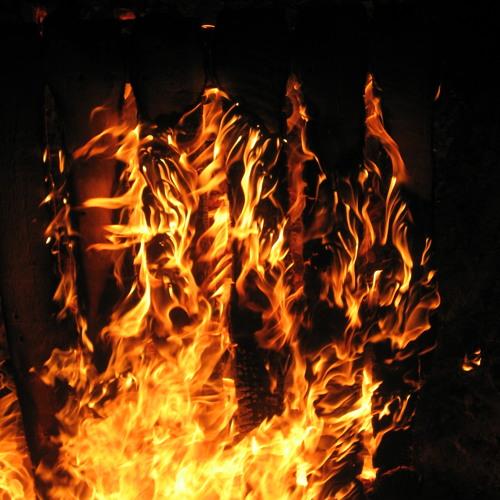 The burning door