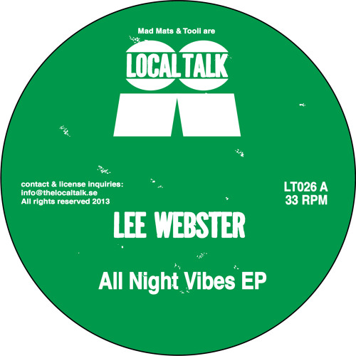 Lee Webster - All Night Vibes EP (12'' - LT026 - 2013)
