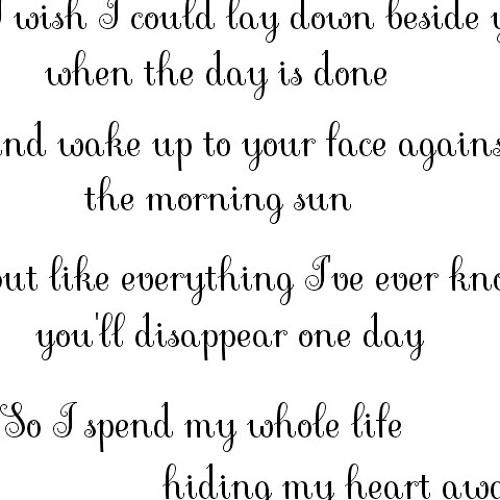 Hiding My Heart..
