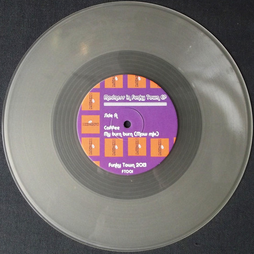 """A1 Coffee – My turn burn [preview](clear 10"""" vinyl 50 copies only)"""