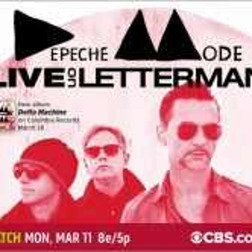 Depeche Mode live by Letterman 20130311
