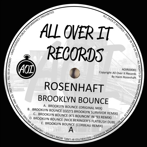 Rosenhaft - Brooklyn Bounce EP remixes ozzi, Jackmaster K, Nick Beringer and Corbeau OUT 19/4/13