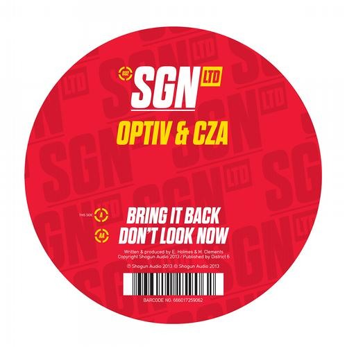 Optiv & CZA - Don't Look Now - SGN:LTD - OUT NOW!!