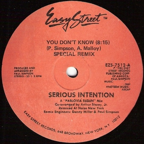 Serious Intention - You Don't Know (Special Remix) 1985