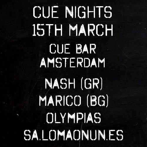sa.lomaonun.es @ CUE nights - CUE bar 15-03-2013
