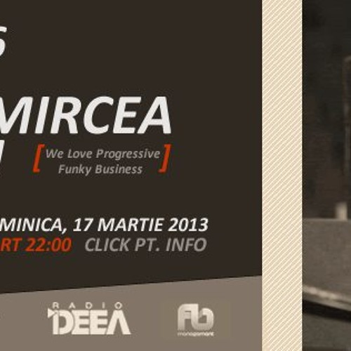 Alex & Mircea Babescu - Exclusive set for DjSets.ro @Radio Deea  (17 MAR 2013)