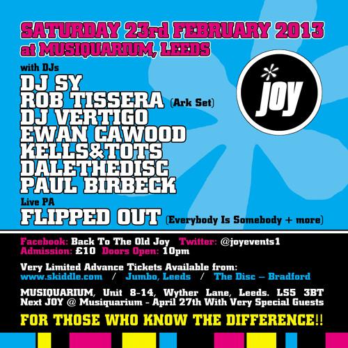 Rob Tissera. JOY @ Musiquarium, Leeds 23-02-13