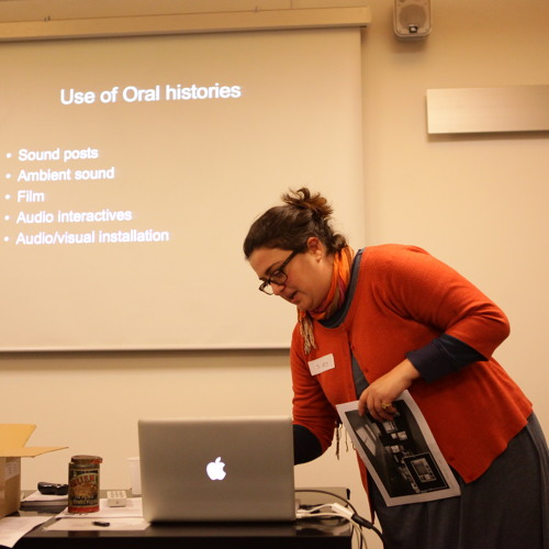 Jo-Ann Curtis at 'sound in museums' workshop (Pitt Rivers Museum, 07-12-2012)